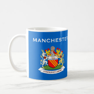 Manchester* Coat of Arms Cup Classic White Coffee Mug