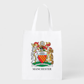 Manchester coat of arms grocery bag