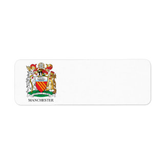 Manchester coat of arms label