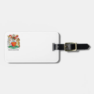 Manchester coat of arms luggage tag