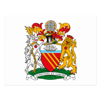 Manchester Coat of Arms Postcard