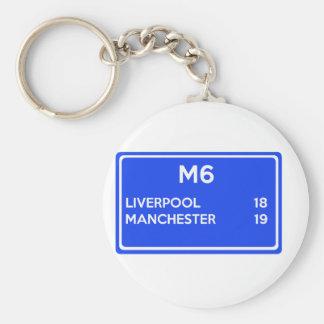 Manchester contra Liverpool - fútbol relacionado Llavero Redondo Tipo Pin