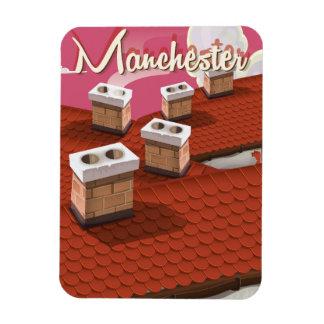 Manchester, England cartoon travel poster Magnet