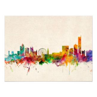 Manchester England Skyline Cityscape Art Photo