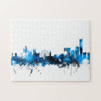 Manchester England Skyline Jigsaw Puzzle