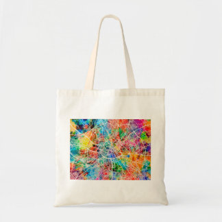 Manchester England Street City Map Tote Bag