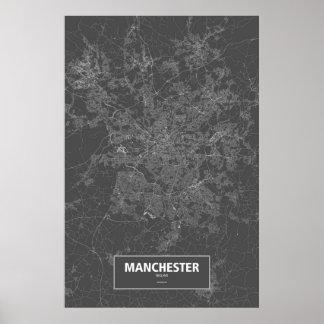 Manchester, England (white on black) Print