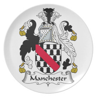 Manchester Family Crest Party Plate
