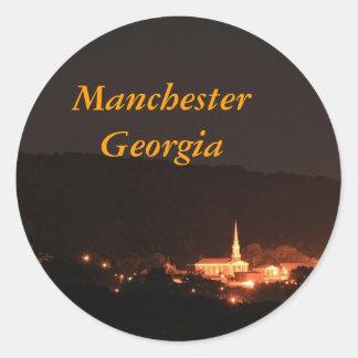 Manchester, Georgia Pegatina Redonda
