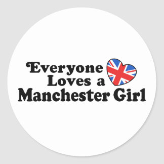 Manchester Girl Classic Round Sticker