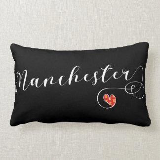 Manchester Heart Throw Pillow,  England Lumbar Pillow