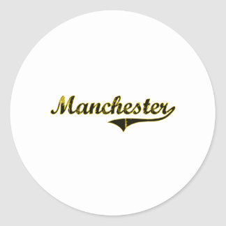 Manchester Iowa Classic Design Classic Round Sticker