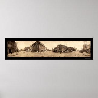 Manchester Iowa Photo 1908 Poster