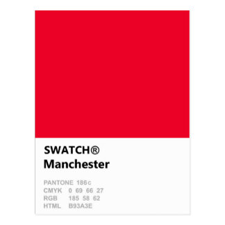 Manchester is RED Postcard