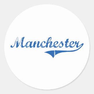 Manchester New Hampshire Classic Design Classic Round Sticker