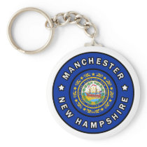 Manchester New Hampshire Keychain