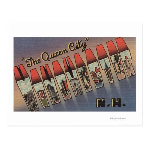 Manchester new hampshire large letter scenes postcard for Craft stores manchester nh