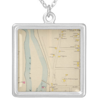 Manchester, NH, Ward 2 Square Pendant Necklace