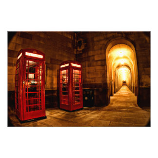 Manchester phone box photo print