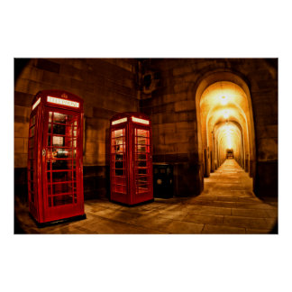 Manchester Phone box Poster