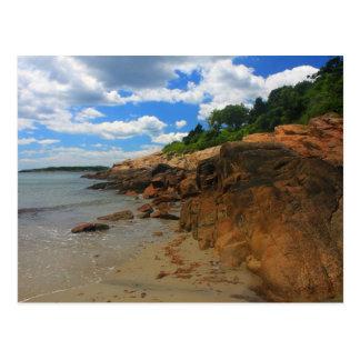 Manchester por la playa rocosa del mar tarjeta postal