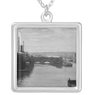 Manchester Ship Canal, c.1910 Silver Plated Necklace