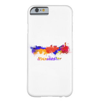 Manchester skyline in watercolor barely there iPhone 6 case