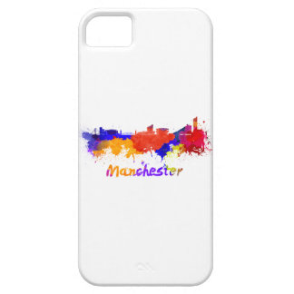 Manchester skyline in watercolor iPhone SE/5/5s case