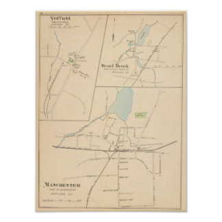 Manchester, Suffield, Broad Brook Poster