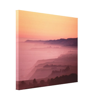 Manchester Sunset Stretched Canvas Prints