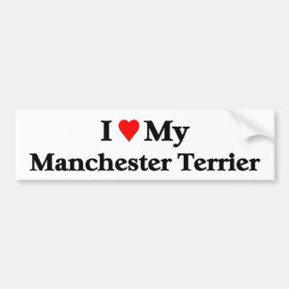 Manchester Terrier Pegatina Para Auto