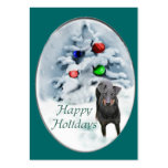 Manchester Terrier Christmas Gifts Large Business Cards (Pack Of 100)