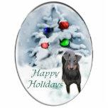 Manchester Terrier Christmas Ornament Photo Cutouts