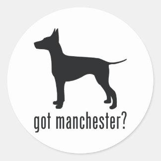 Manchester Terrier Classic Round Sticker