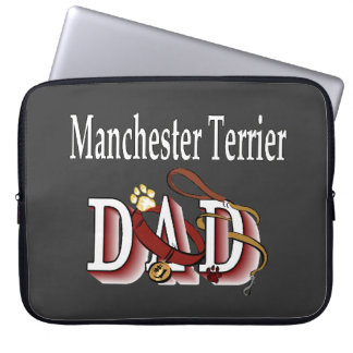 Manchester Terrier Dad Laptop Sleeve