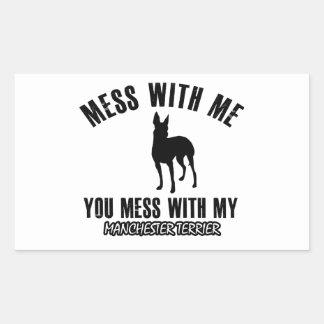 manchester terrier designs rectangular sticker