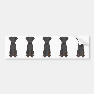 Manchester Terrier Dog Cartoon Bumper Sticker