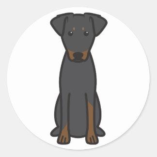 Manchester Terrier Dog Cartoon Classic Round Sticker