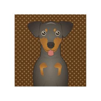 Manchester Terrier Dog Cartoon Paws Wood Wall Art