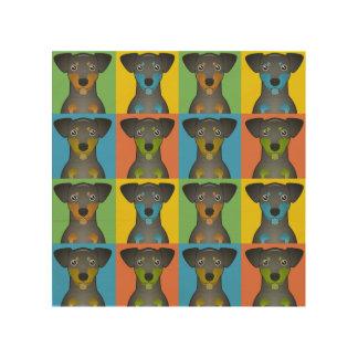 Manchester Terrier Dog Cartoon Pop-Art Wood Wall Art