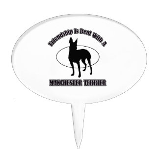 MANCHESTER TERRIER DOG designs Cake Toppers