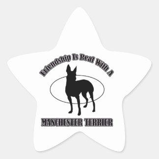 MANCHESTER TERRIER DOG designs Star Sticker