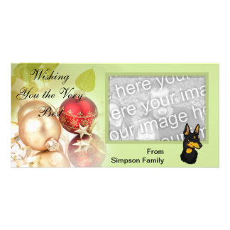 Manchester Terrier ~ Green Leaves Design Card