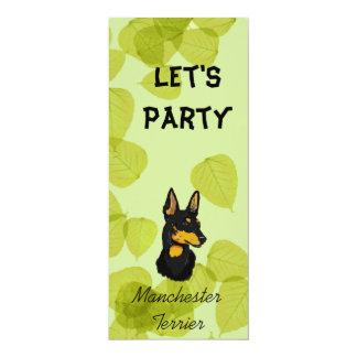Manchester Terrier ~ Green Leaves Design Card