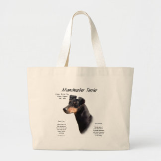 Manchester Terrier History Design Tote Bags