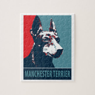 Manchester Terrier Hope Parody Political Poster Jigsaw Puzzle