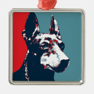 Manchester Terrier Hope Parody Political Poster Metal Ornament