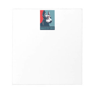 Manchester Terrier Hope Parody Political Poster Notepad