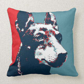 Manchester Terrier Hope Parody Political Poster Throw Pillow