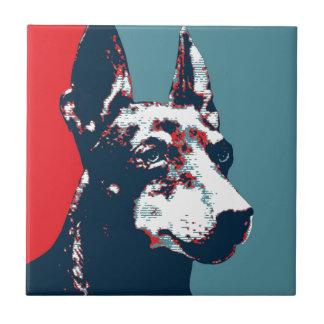 Manchester Terrier Hope Parody Political Poster Ceramic Tiles